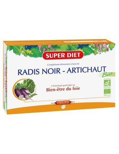 Radis Noir - Artichaut Bio - 20 ampoules