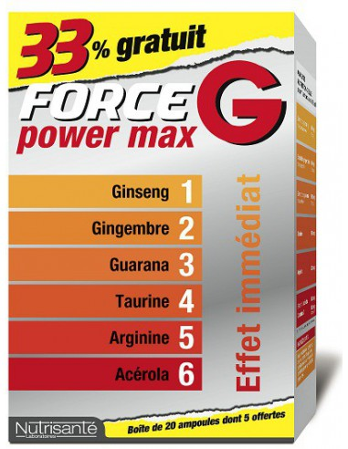 FORCE G Power Max - 20 ampoules