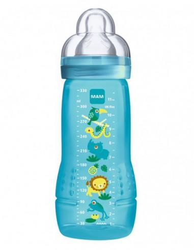 Biberon 2ème âge Bleu - 330 ml