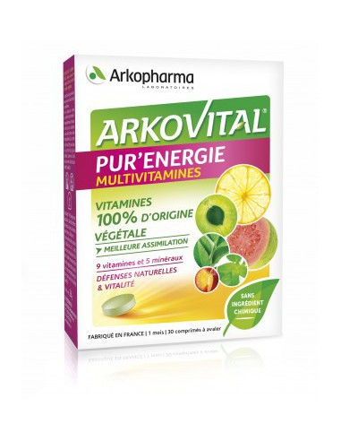 Arkovital Pur'Énergie - 30 Comprimés