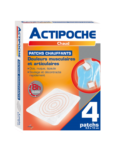 ACTIPOCHE Patch chauffant, 4 patchs