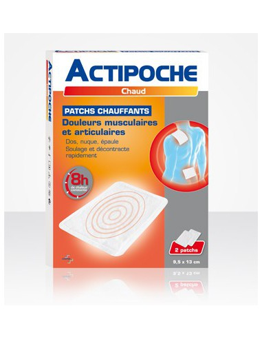 ACTIPOCHE Patch chauffant, 2 patchs