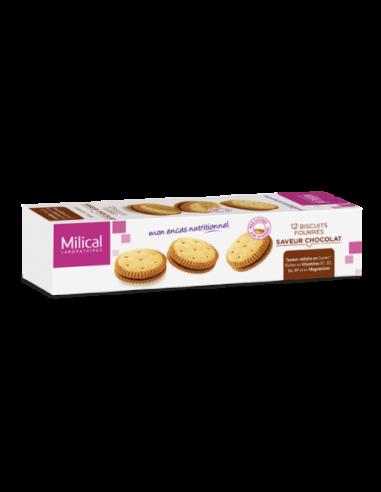 Biscuits fourrés saveur Chocolat, 12...